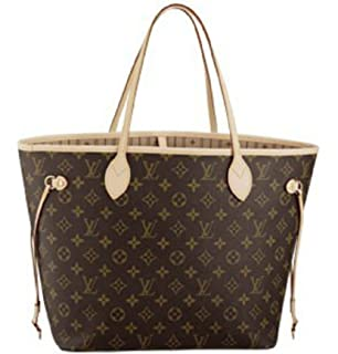 Neverfull Style Designer Woman Organizer Handbag Monogram Tote Shoulder Fashion  Bag MM Size 6e4db1df53b61