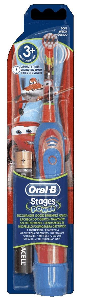 Cepillo de dientes Power Kids con diseño de la película Cars, a pilas, Oral