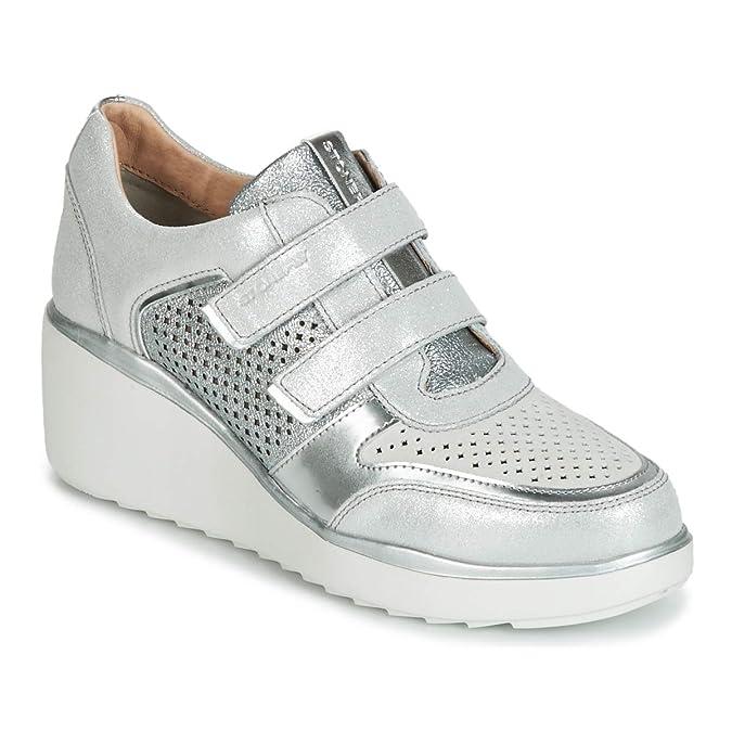 Stonefly Eclipse 16 Velour/Laminated Sneaker Damen Weiss Sneaker Low