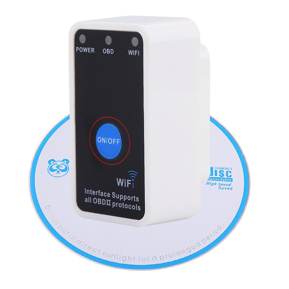 Qiilu Mini V1.5 OBD2 OBDII Wifi Car Auto Diagnostic Scanner Interface Tool with On/Off Switch