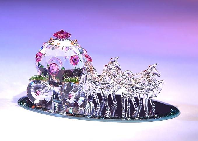 Figurine New In Box Crystal World Fantasy Cinderella Coach Med