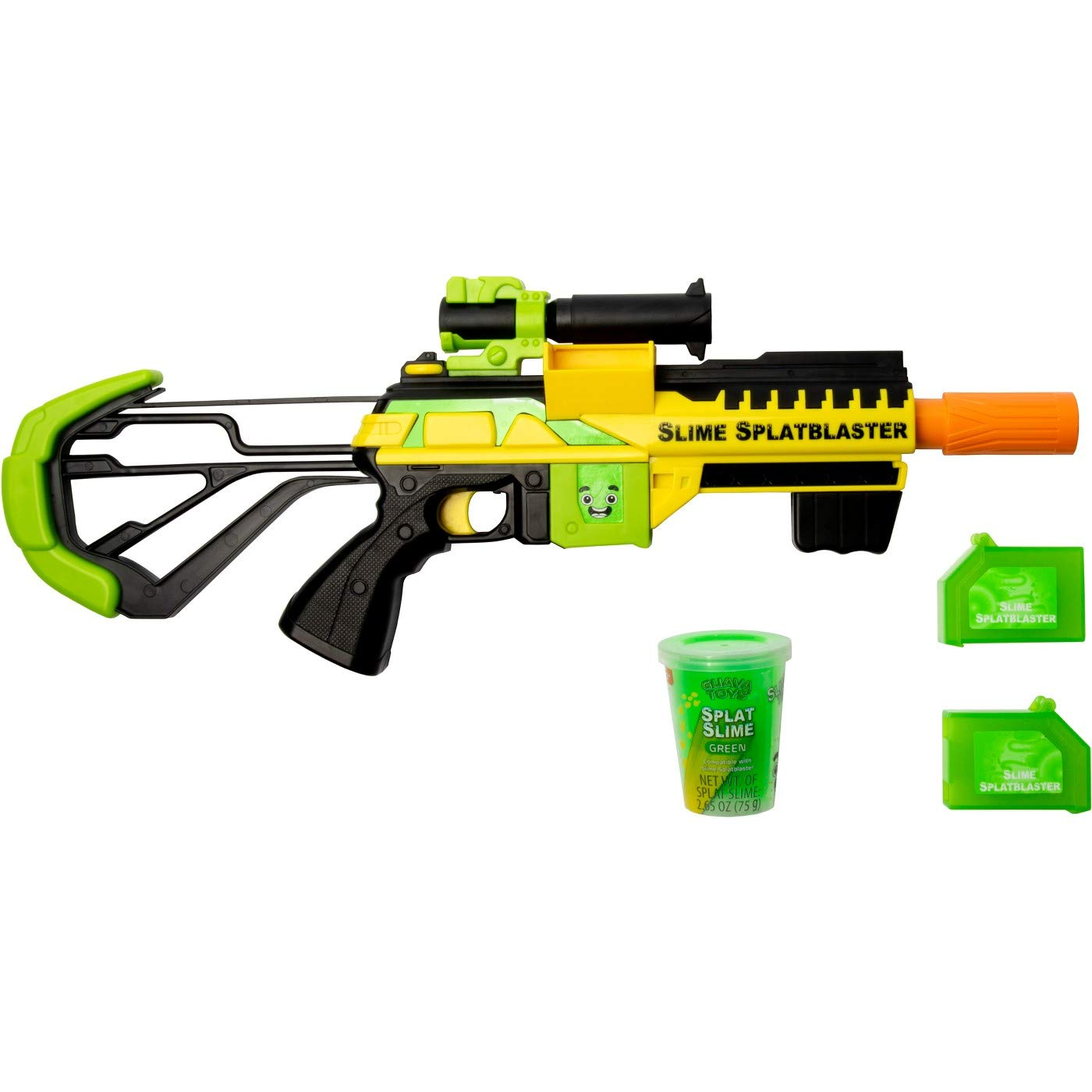 Guava Toys Slime Blaster | Includes 2 Specially Formulated Splatblaster Slime Cartridges