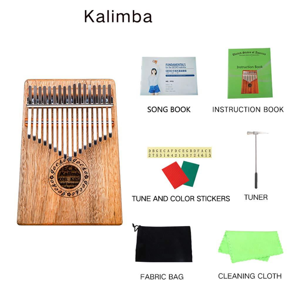 MG.QING Kalimba 17 Key Camphor Wood B-Tone Electronic Thumb Piano Mbira Kalimba Musical Instrument,A by MG.QING
