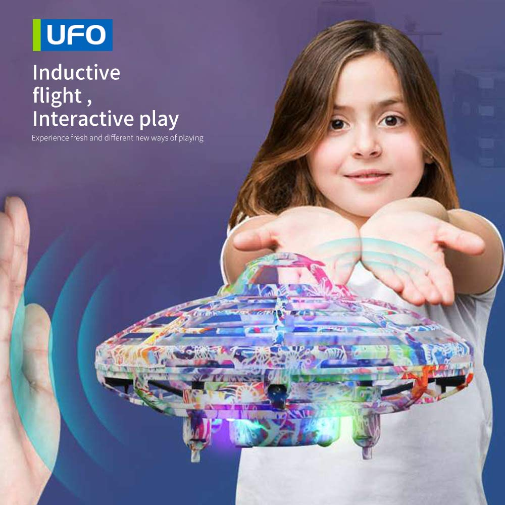LOKMAT Drones for Kids, Hand-Controlled Suspension Mini Helicopter Drone,Infrared Induction Interactive Drone Flyer Toys with 360° Rotating and LED Lights, Flying Toys for Boys Girls (Multicolor) by LOKMAT (Image #6)
