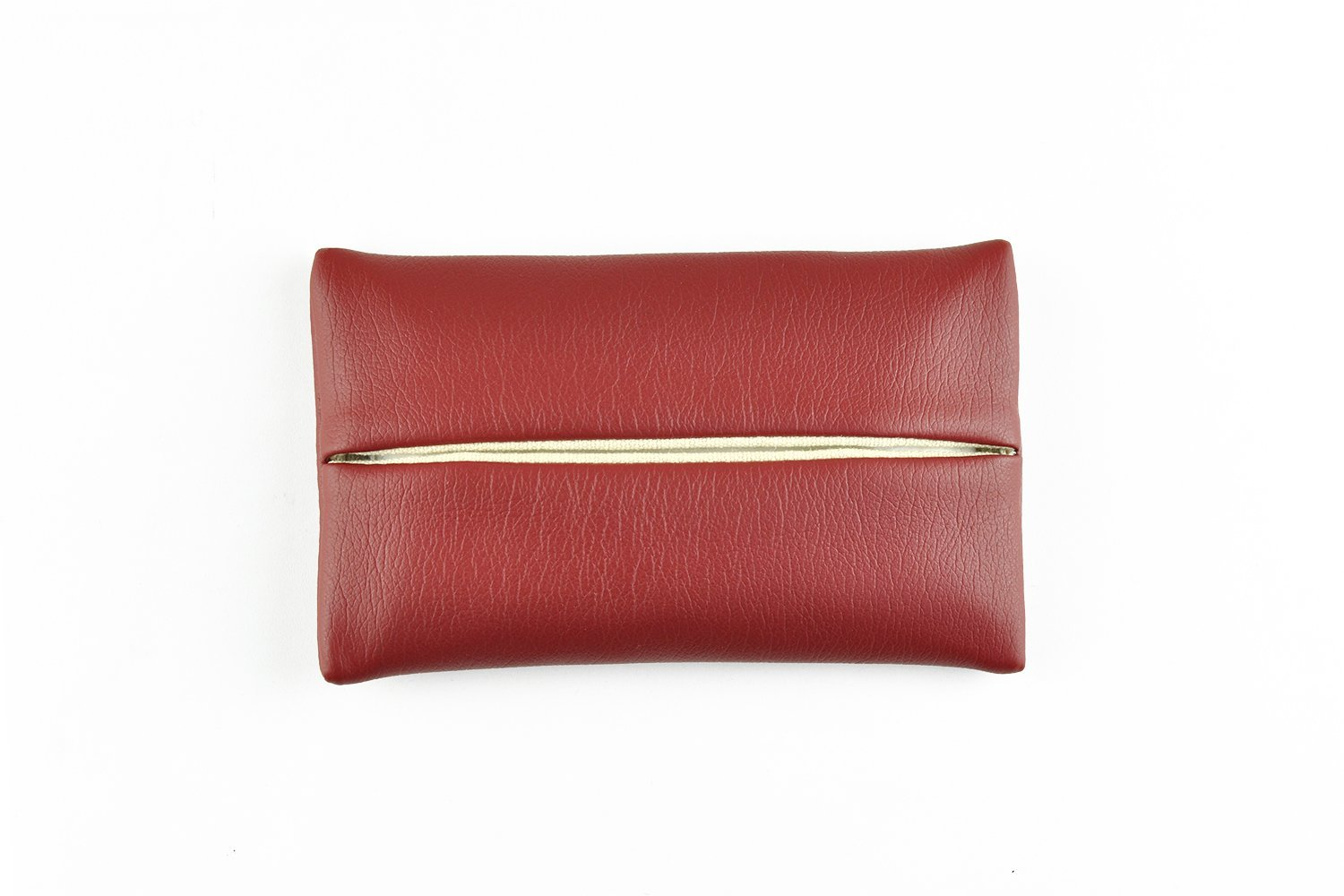 「Thing.Is」PU Leather Pocket Tissue Holder, Travel Tissue Cover, Travel Tissue Holder, Portable Tissue Case, Tissue Pouch, Wine Red