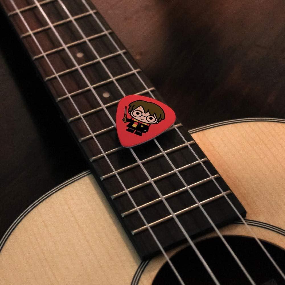 Harry Potter - Juego de 6 púas para guitarra (tamaño mediano ...
