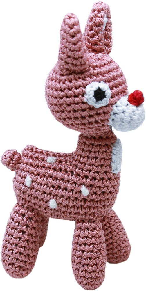 Mirage Pet Products Knit Knacks Rudy the Reindeer Organic Cotton mall Dog Toy, Small