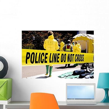 Amazon.com: Policía line-ehs Mural Wallmonkeys despegar y ...