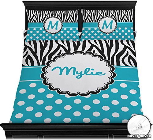 Dots & Zebra Duvet Cover Set - Full / Queen (Personalized) by Baby Milano