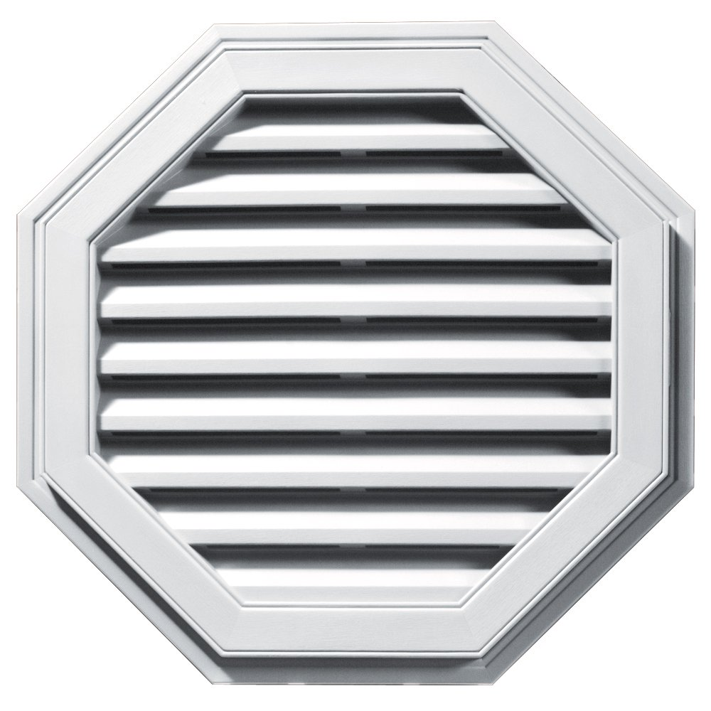 Builders Edge 120012727001 27'' Octagon Vent 001, White