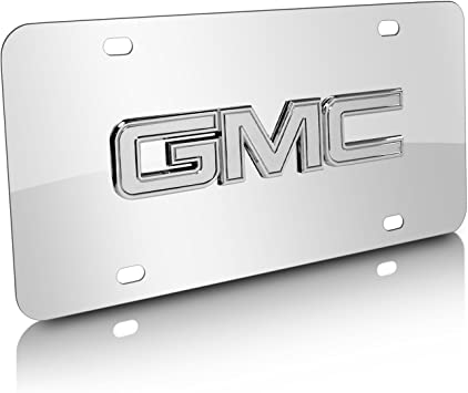 GMC Stainless Steel License Plate