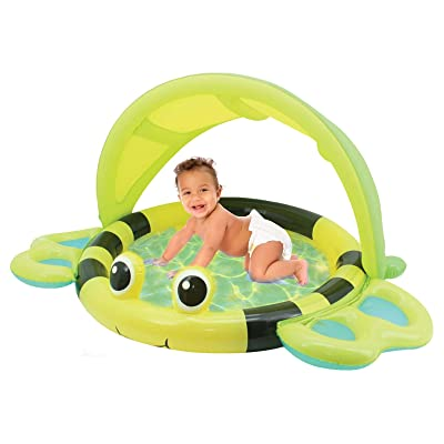 Hoovy Bumble Bee Soft Inflatable Pool | Outdoor Swimming Toys for Infants & Toddlers | Blowup Games for Kids | Portable Beach Accessories for Girls & Boys | Small Kiddie Ring for Summer | Best Gifts: Toys & Games