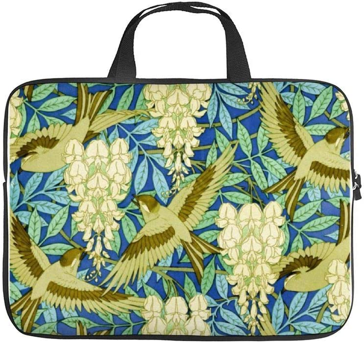 "Neoprene Sleeve Laptop Handbag Case Cover Wisteria and Birds Art Nouveau Floral 10 Inch Laptop Sleeve Case for 9.7"" 10.5"" Ipad Pro Air/ 10"" Microsoft Surface Go/ 10.5"" Samsung Galaxy Tab"