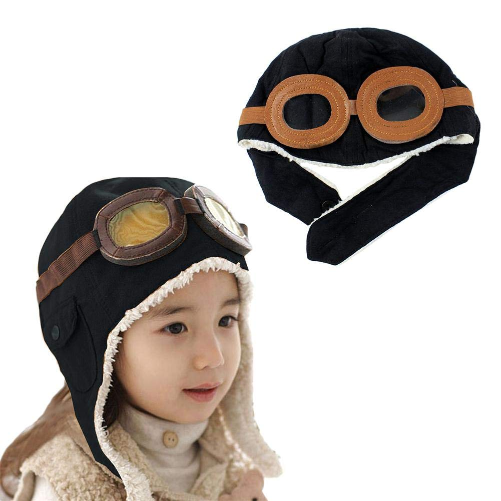 dizi248 Childrens Pilot Hat,Baby Kids Winter Warm Earflap Hat,Aviator Hat With Goggles