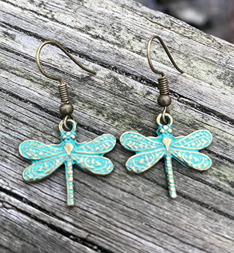 Turquoise Patina Dragonfly ()