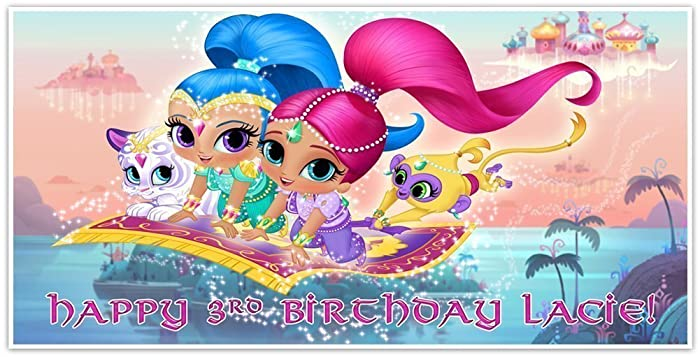 Amazon Shimmer And Shine Birthday Banner Personalized Party Decoration Handmade