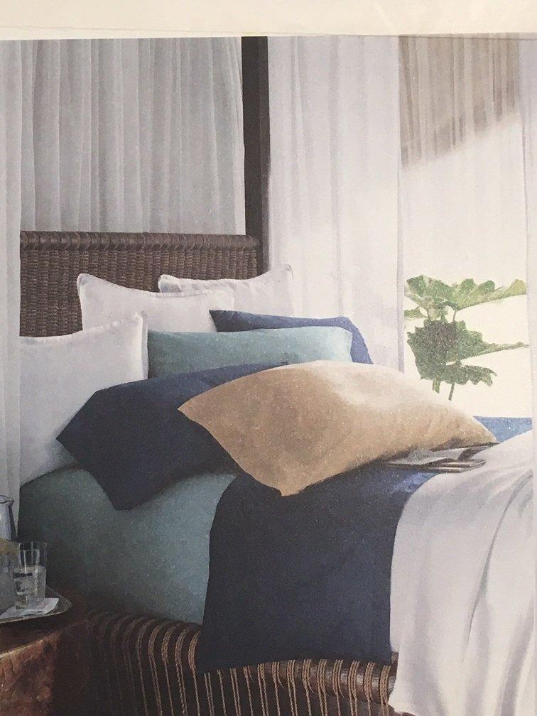 Ralph Lauren SPA SEASIDE RETREAT Queen Fitted Sheet - Dusty Aqua