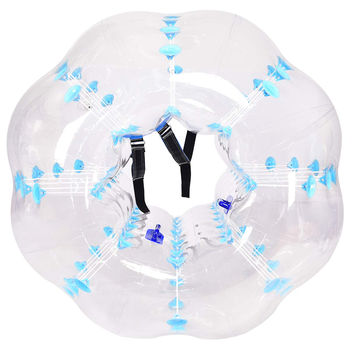 Costzon Inflatable Bumper Soccer Ball, Dia 5ft (1.5m) Giant Human Hamster Bubble Ball, 8mm Thickness Transparent PVC Zorb Ball for Kids, Teens Outdoor Team Gaming Play (Light Blue) by Costzon (Image #8)