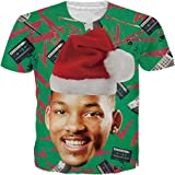 OPCOLV Unisex Ugly Christmas Sweaters Jumpers 3D Funny Graphic Pullover Sweatshirt for Xmas Party
