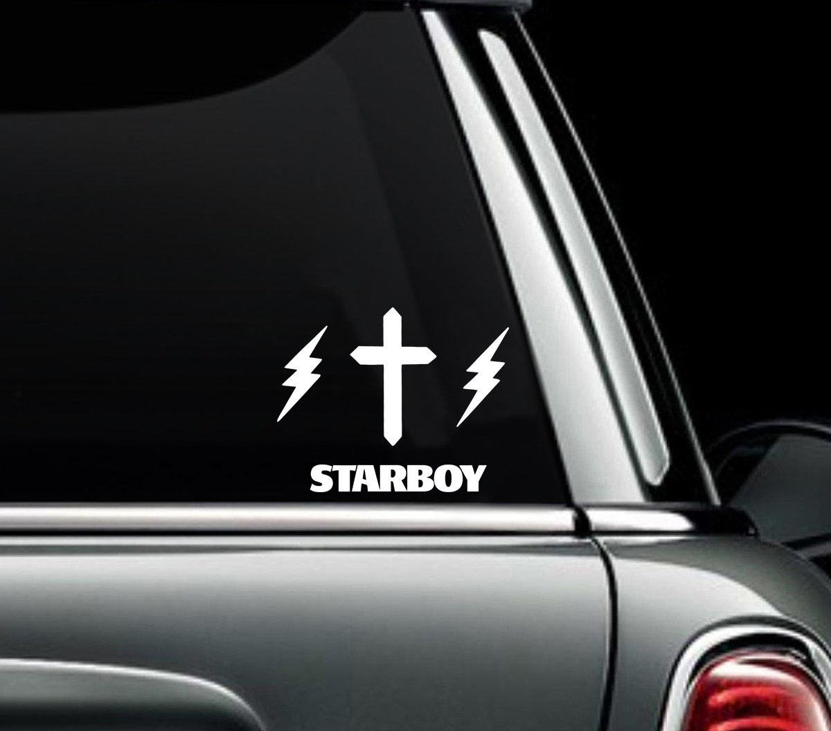 Amazon com star boy weeknd xo two pack vinyl sticker car truck window laptop macbook wall art arts crafts sewing