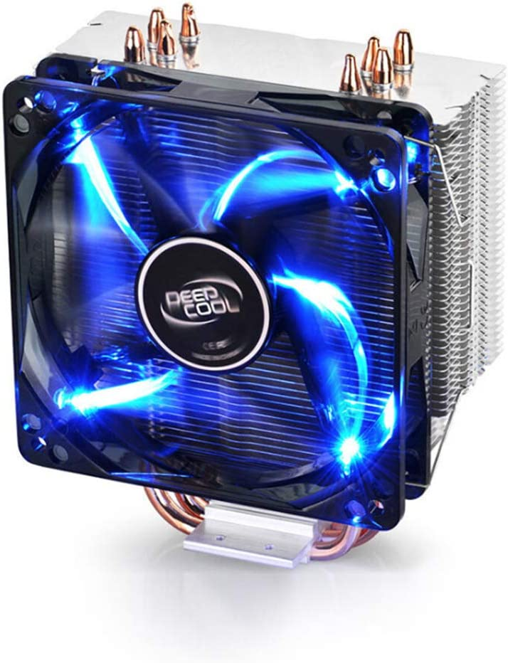 CPU Fan Radiator Ultra-Quiet Four Heat Pipe Temperature Control Speed LED Fan for Intel and AMD Desktop Computers PLAIPH Cooling Fan