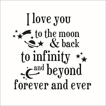 Amazon Fange DIY Removable I Love You To The Moon Back To Amazing Infinity Love Quotes