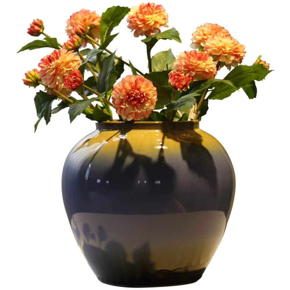 セラミック花瓶用花緑植物結婚式の植木鉢装飾ホームオフィスデスク花瓶花バスケットフロア花瓶 B07RJRJXH2