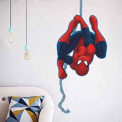 Ikeelife Spiderman Cartoon Marvels Hero Height Measurement Growth Chart  Wall Vinyl Decal For Kids Room Spider