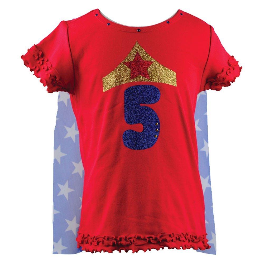100%品質 Reflectionz Baby GirlsレッドWonder Girl Baby Star誕生日ケープTシャツ12 – 18 M – M 18 Months B01FKP7WH8, 日昇洋行:abde22d3 --- a0267596.xsph.ru