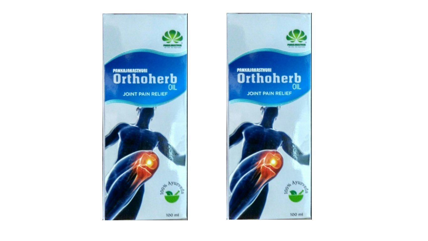 Orthoherb Oil Joint Pain Relief - 100% Ayurveda - 100ml (Pack of 2) by Pankajakasthuri