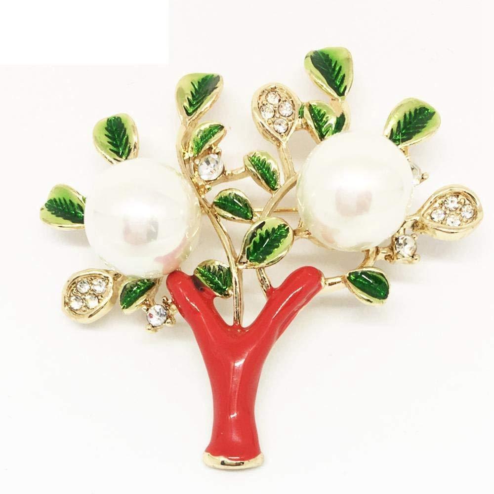 Hongge Broche Bijoux Broche Perles synthétiques émail Goutte Huile Broche Alliage Corsage,Cadeau de Haute qualité