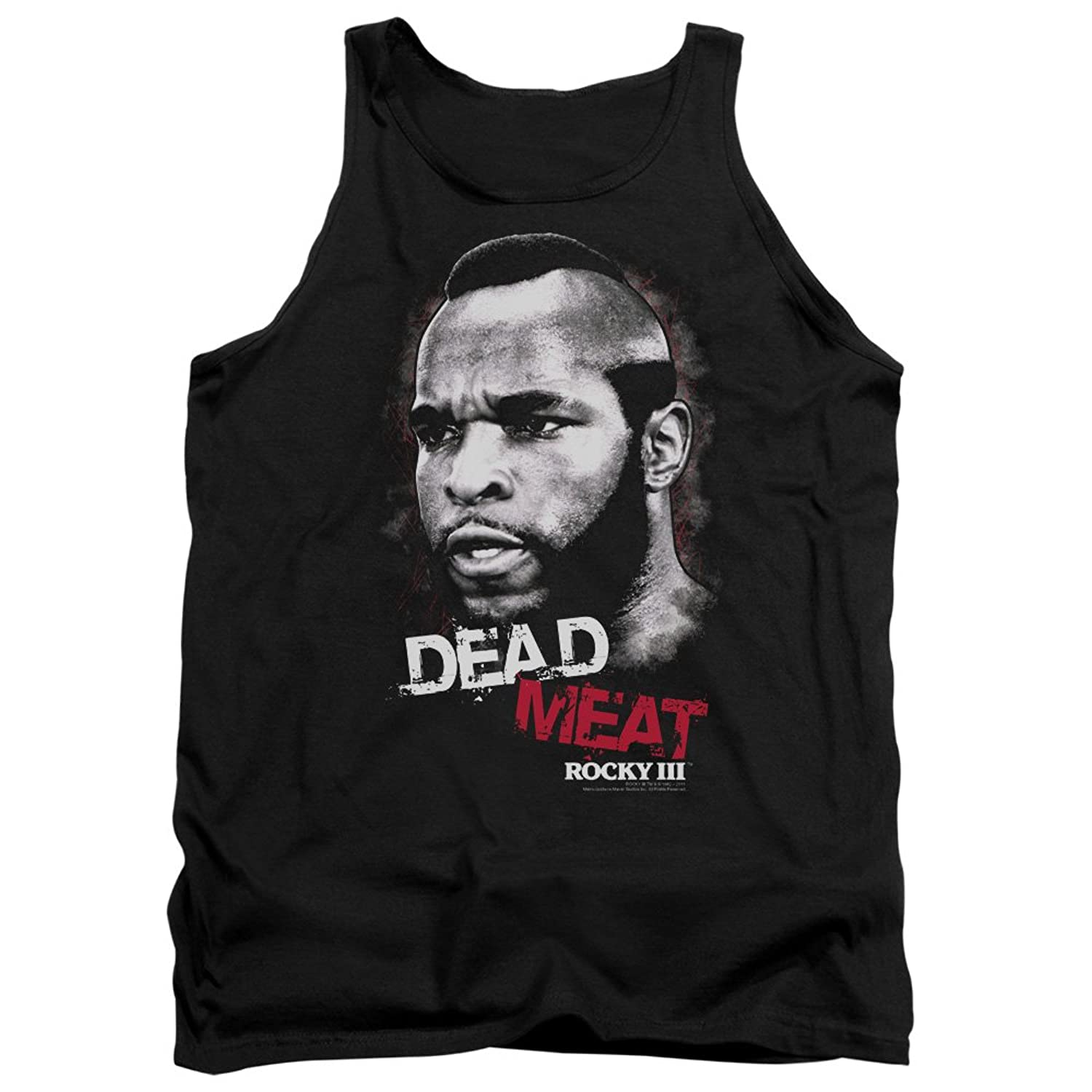 Rocky III MGM Movie Dead Meat Adult Tank Top Shirt