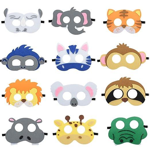 Blanketswarm Máscaras de Fieltro con diseño de Animales ...