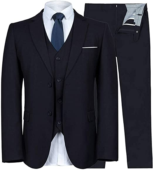 Mens Suits 2 Pieces Slim Fit Formal Wedding Dinner Suits Tuxedo Jacket/&Trousers