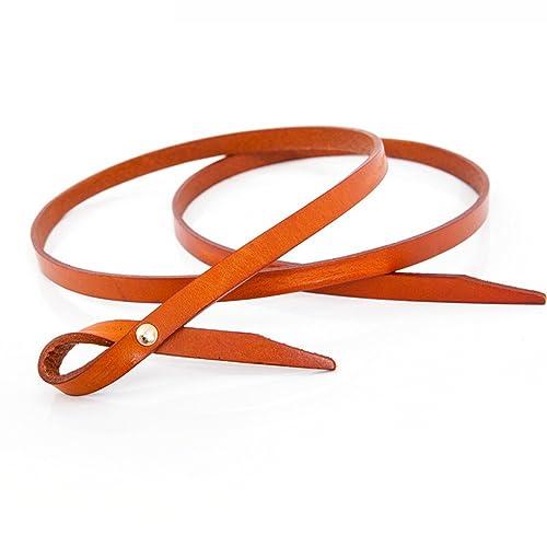 Señoras Anudado Bien Cinturón,Personalidad Ocio Salvaje Cinturón Decoración Vestido Cuero Genuino Ci...