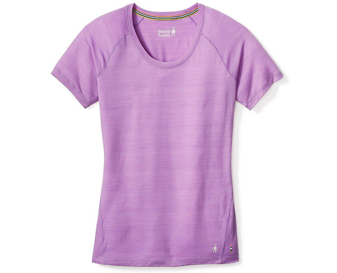 SmartWool Women's Merino 150 Baselayer Pattern Short Sleeve (Lilac- Past Season) Medium
