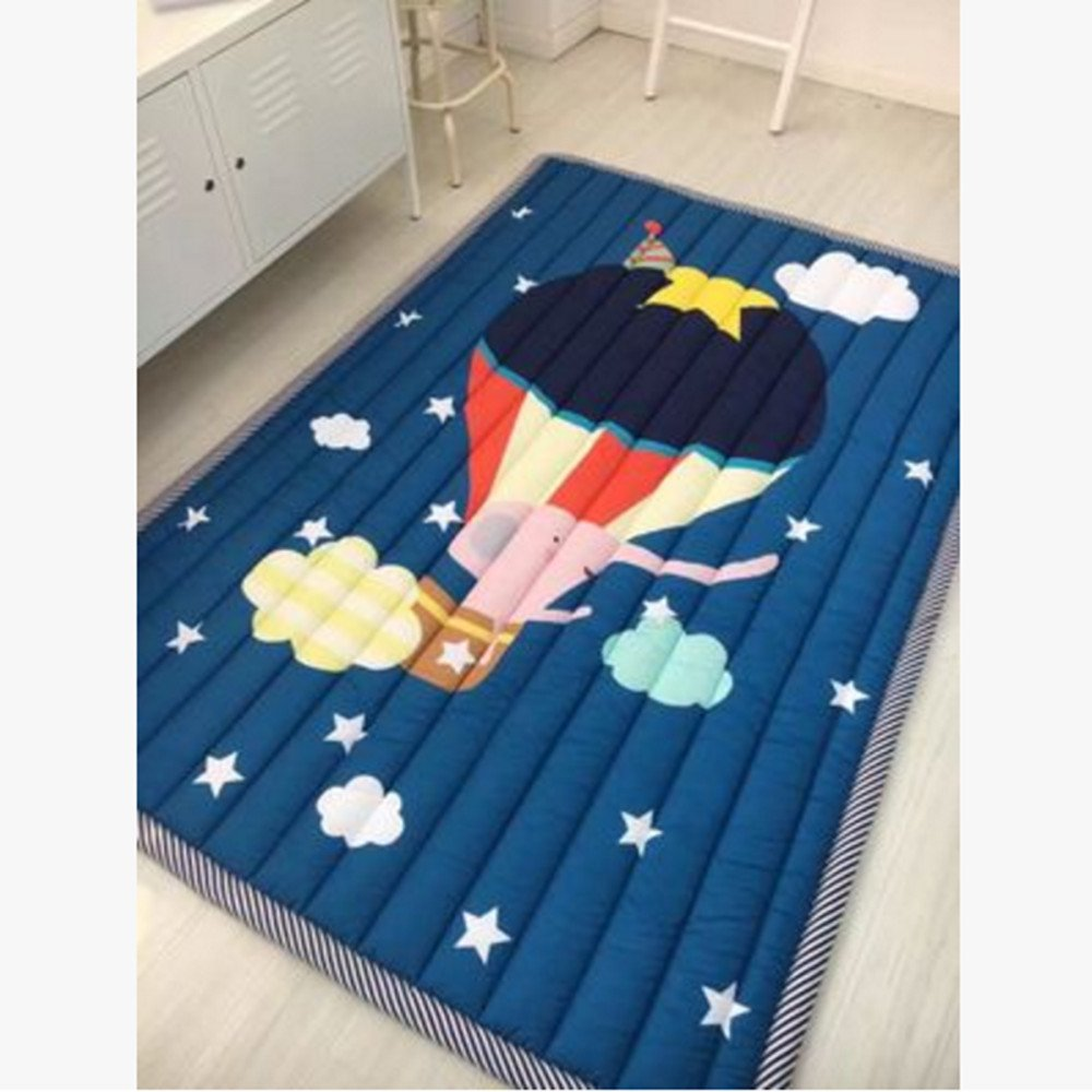 Traveling the World Ustide Baby Play Mat bluee Starry Sky Cotton Carpet For Living Room Skin Friendly Crawling Mat