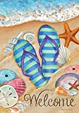 Briarwood Lane Day in The Sun Beach Garden Flag Summer Flip Flops Shoreline 12.5' x 18'
