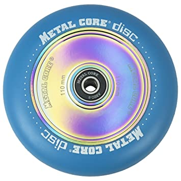 Metal Core Rueda Disc para Scooter Freestyle, Diámetro 110 mm (Azul): Amazon.es: Deportes y aire libre