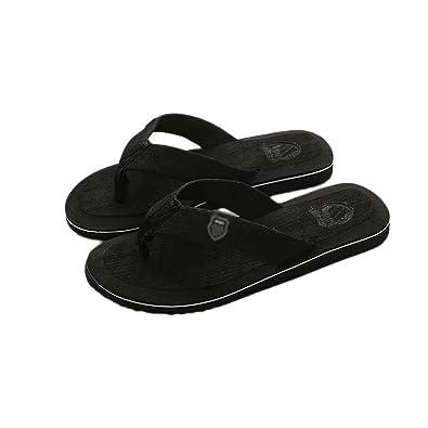 Amazon.com   Mens Beach Flip Flops Slippers 2019 New SummerCasual Shoes Outdoor Beach Zapatillas de Hombre 6 Colors Slippers for Male#3C, Black, 7, ...