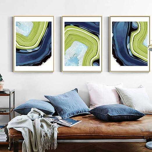 adgkitb canvas Abstracto Azul Verde mármol Lienzo Pinturas Pared ...
