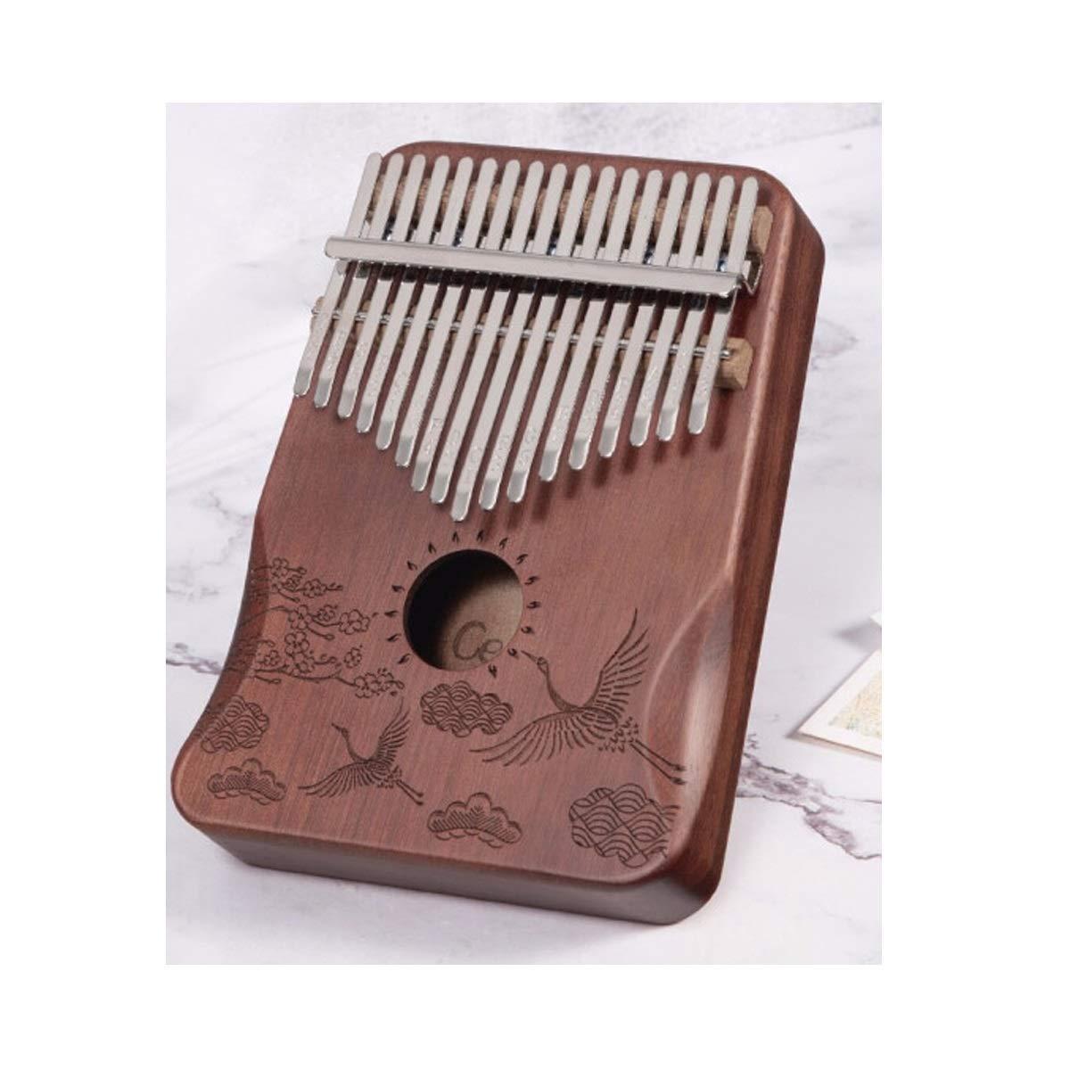 HENGTONGWANDA Kalimbaqin Thumb Piano 17 Sound Beginner Kalimba Piano Portable Entry Finger Piano Acacia Wood Crane, Suitable For Beginners, Advanced Performers, Best Gift (Color : C) by HENGTONGWANDA