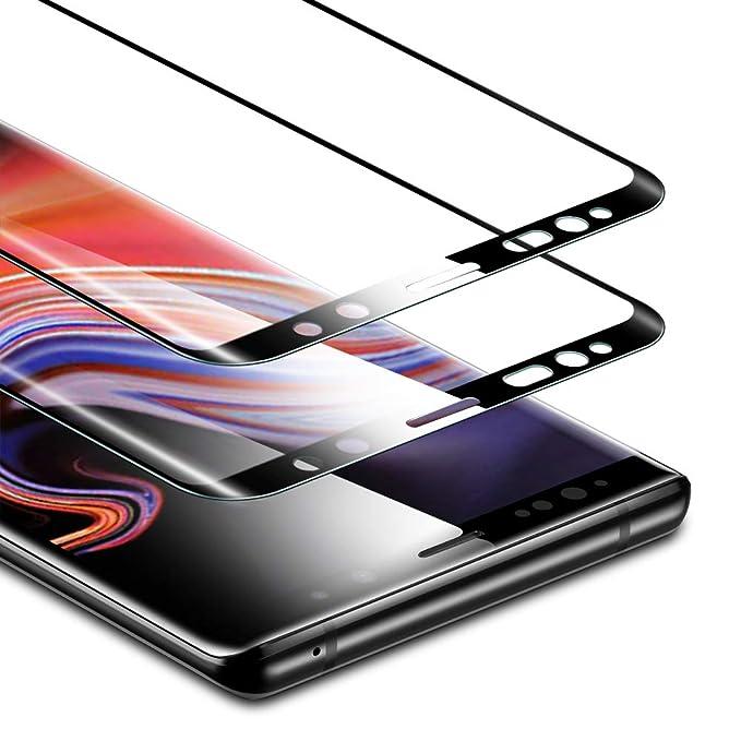 ESR - Protector de Pantalla para Samsung Galaxy Note 9 (2 Unidades, Cristal Templado