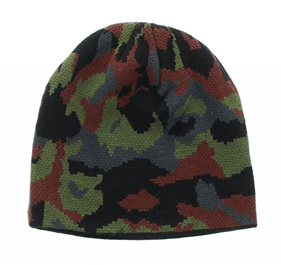 Image Unavailable. Image not available for. Color  Army Green Camoflauge  Embroidered Beanie 70bc970a5c0a