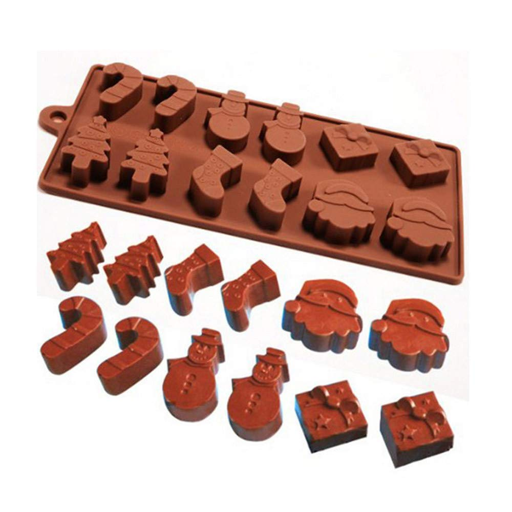 Amazon.com: Gessppo Christmas Silicone Bakeware Mold for Cake, Chocolate, Jelly, Pudding, Dessert Molds Cake Decorating Ice Candy Cookies Baking Mold: ...