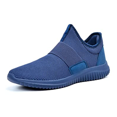 ebcd03f4becdbc ZOCAVIA Sportschuhe Slip on Leicht Laufschuhe Sneaker Atmungsaktiv  Freizeitschuhe Damen Herren Blau 36 EU