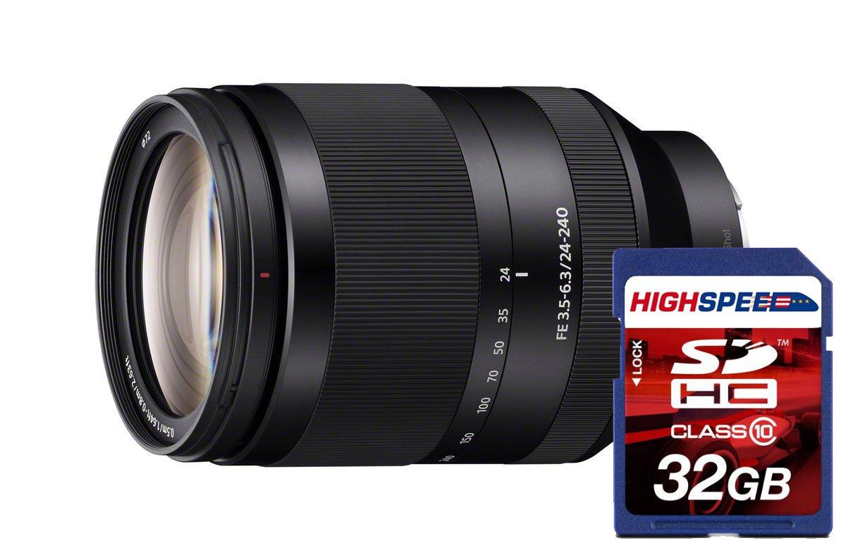 Sony sel24240 FE 24 – 240 mm F / 3.5 – 6.3 OOS standard-zoomレンズfor Mirrorless Cameras   B00V2FP46C
