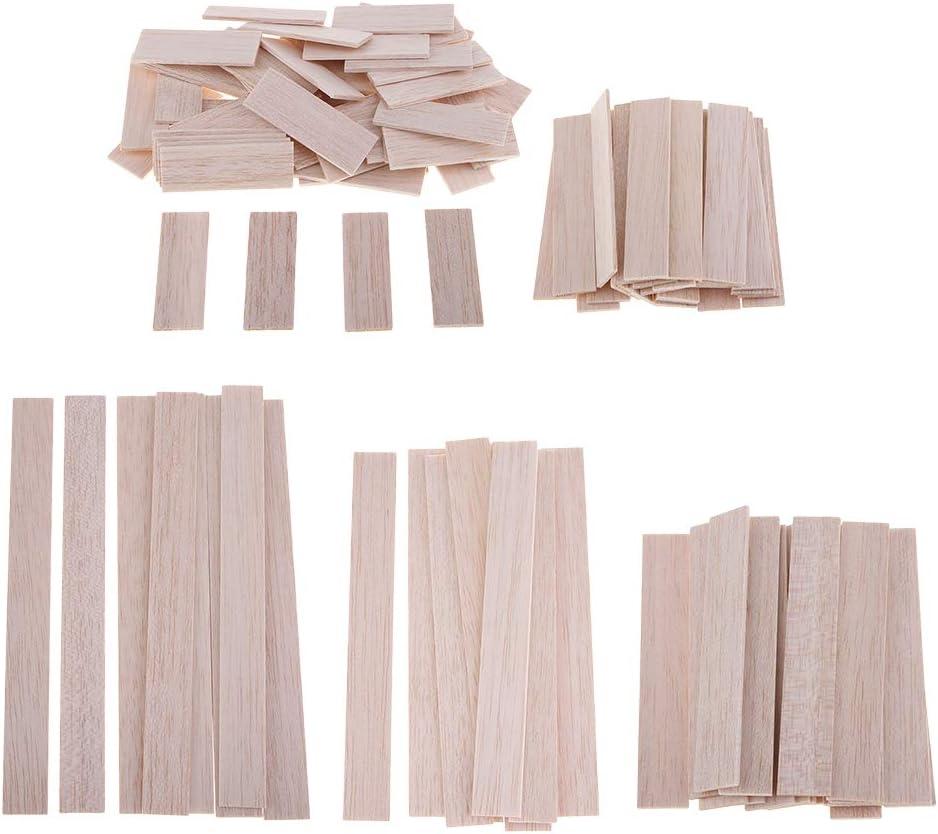 10 Piezas 150mm Madera Redonda de Balsa Woodcraft Plana Palos Material de Bricolaje