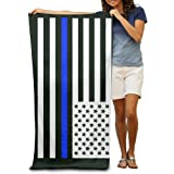 Adult Thin Blue Line Absorbent Quick Dry Pool Bath Travel Beach Towel Blank Blanket Extra Large Long 80cm130cm 31.5in51.2in