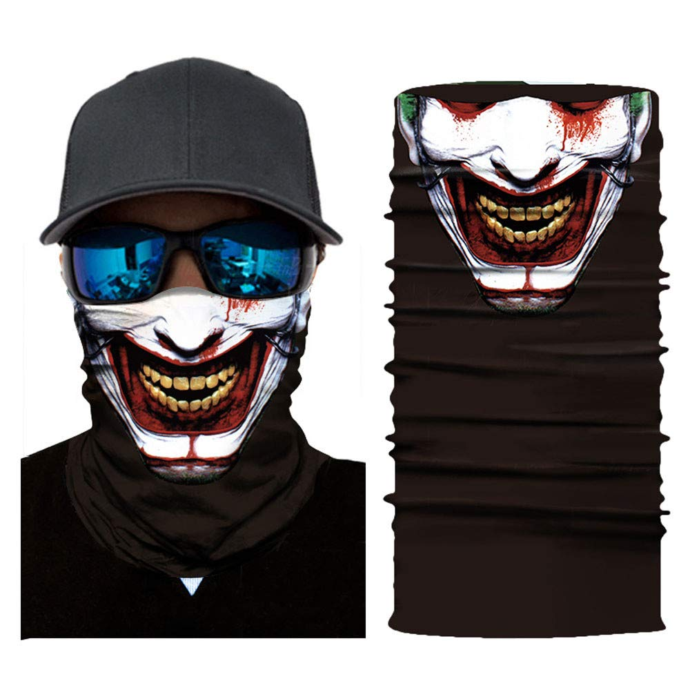 Unique Riding Mask Cycling Motorcycle Neck Tube Ski Scarf Face Mask (D)